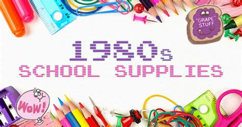 80s Supplies by 19 Totally 80s School Supplies That Will Take You Back To