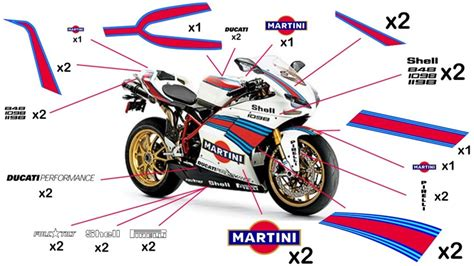 Ducati 749 Sticker by Stickers Ducati Martini Racing 959 1299 Panigale 2015