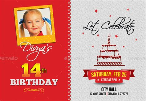 birthday photo card template birthday invitation template 44 free word pdf psd ai