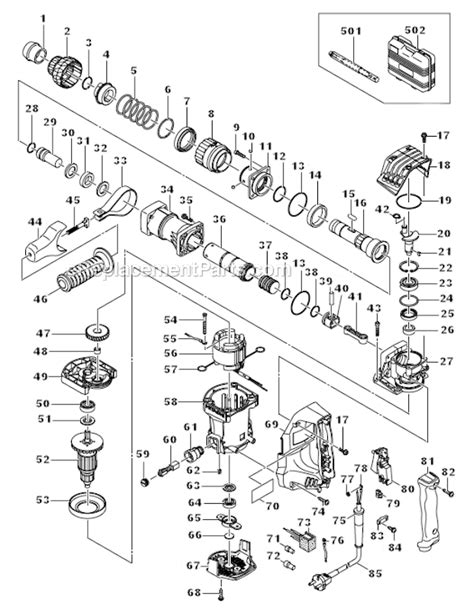 Hammer 7 5 Joule H 41 Hitachi hitachi h41mb parts list and diagram ereplacementparts