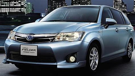 toyota in japan toyota corolla axio and corolla fielder hybrids launched
