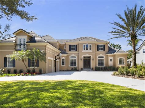 Luxury Homes Bay Hill Gated Waterfront Estate Orlando Luxury Home Builders In Orlando Fl
