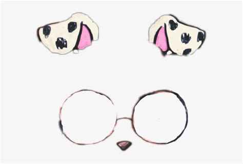 dalmatian clipart dog filter transparent snapchat filter