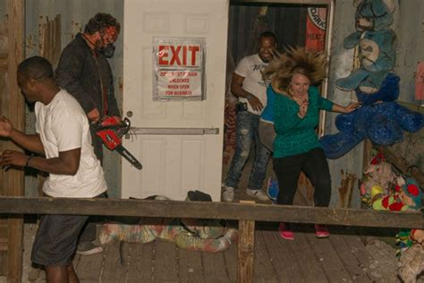 haunted house in houston photos fans get spooked at phobia haunted house abc13 com