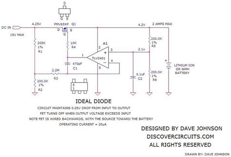 ideal diode model resistance circuit forms ideal diode function