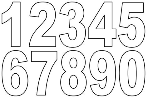 free printable coloring numbers 1 10 4 best images of printable number templates in color