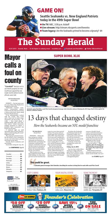 Heralded By The Herald by Everett Daily Herald February 01 2015 By Sound