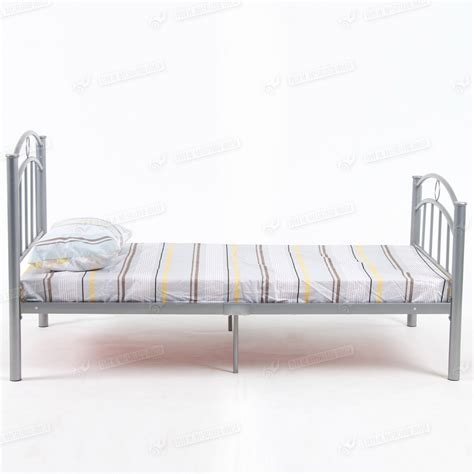 metal trundle bed frame 3ft single metal bed frame without trundle and mattress steel tube silver color ebay