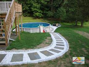 above ground pool landscaping diy