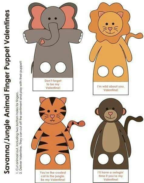 printable zoo animal finger puppets finger puppet for kids pinterest finger puppets