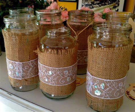 floreros con frascos de vidrio frascos vidrio ideales floreros centros mesa decoraci 243 n