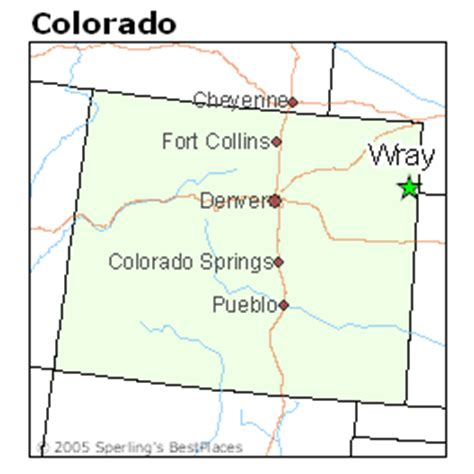 wray colorado map best places to live in wray colorado