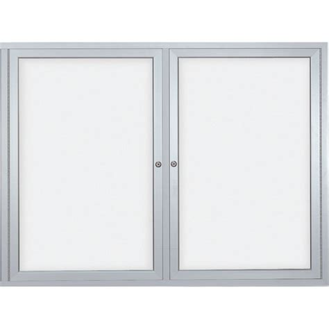 enclosed whiteboard cabinet with folding doors tambour door enclosed dry erase board cabinet imanisr com