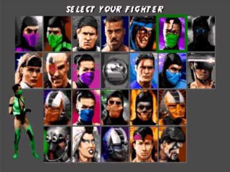 mortal kombat sega genesis characters ultimate mortal kombat 3 sega genesis character select