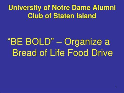 Notre Dame Mba Slide Presentation by Ppt Of Notre Dame Alumni Club Of Staten