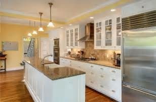 one wall open galley style kitchen with long island kitchens i love pinterest nice the o