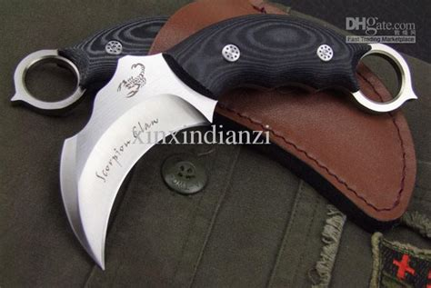 Claw Cutter Karambit Xs 45 drop shipping scorpion claw karambit pocket knife fixed