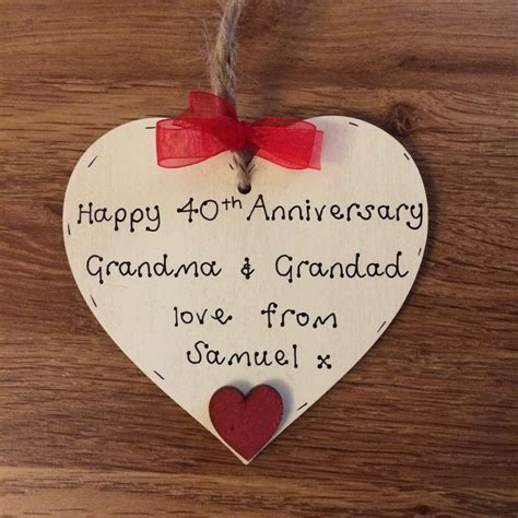 40th wedding anniversary diy gifts personalised 40th ruby wedding anniversary wooden