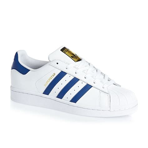 Original Adidas Superstar Foundation Series adidas originals superstar foundation j trainers white blue free delivery