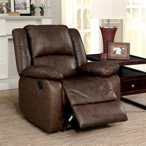 leather match upholstery furniture of america revon classic stitched top grain