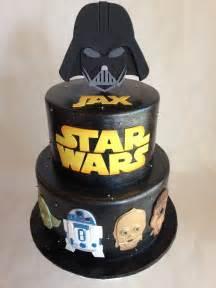 starwars kuchen birthday cake wars fondant darth vader r2d2
