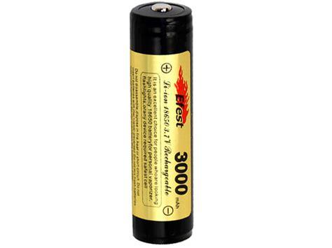 Item Efest 18650 Li Ion Unprotected Battery 2600mah 37v With Fla efest 3690 18650 3000mah 3 7v protected lithium ion li ion button top battery boxed