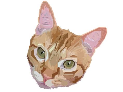 wallpaper poly cat low poly atomsk tabby cat by theartofpoly on deviantart