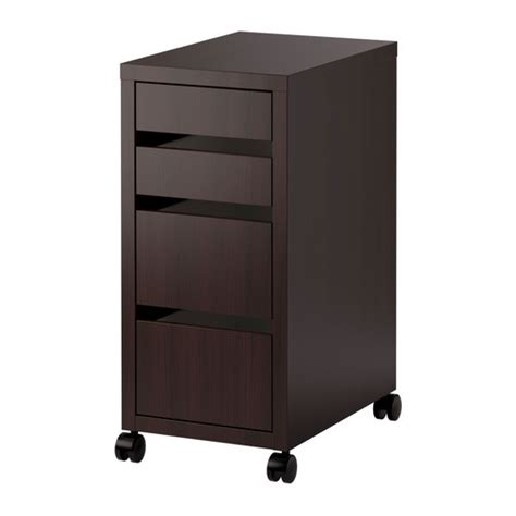 micke drawer unit on castors black brown ikea