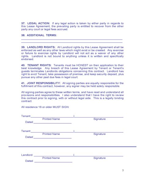 maine monthly rental agreement form