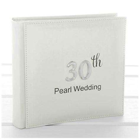 Wedding Anniversary Gifts Pearl by Pearl Anniversary Photo Album Large Pearl 30th
