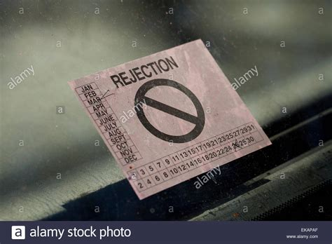 Rejection Sticker Va car safety inspection rejection sticker virginia usa