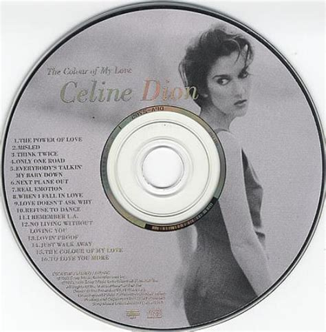 recount text biography celine dion celine dion the colour of my love picture cd japanese cd