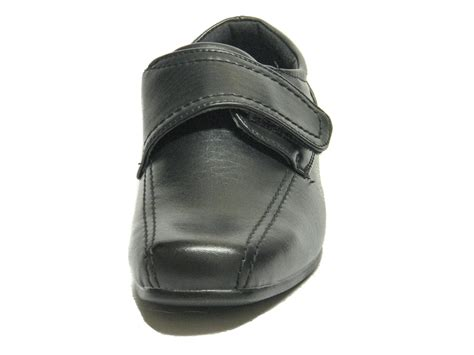 Sandal Casual Formal Prodigo Reog Original Made infant boys black smart formal velcro school shoes loar shoes