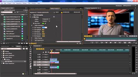 adobe premiere pro green screen kameralnie tutorial 1b green screen w adobe premiere