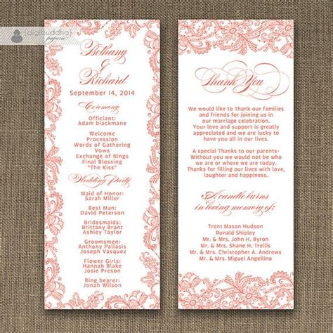 Coral Wedding Programs 442 Best Images About Coral Wedding Ideas On Pinterest