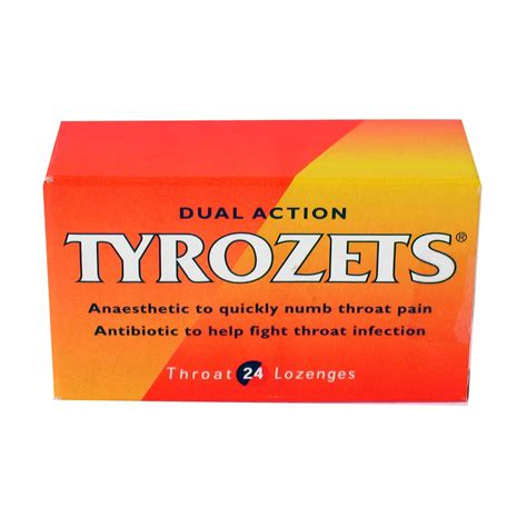 Bath And Shower Kits tyrozets dual action sore throat colds and coughs