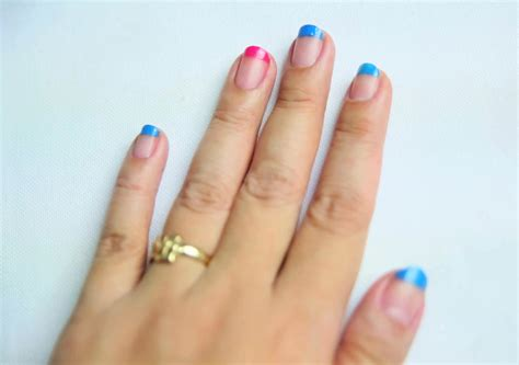 2 color nail how to color block your nails 11 steps with pictures