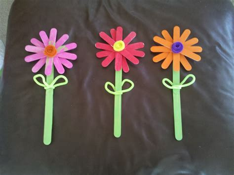flowers crafts for in montana craft stick flowers