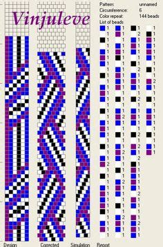 Perlenweben Vorlagen Muster Schlauchketten H 228 Keln Musterbibliothek Indianer4