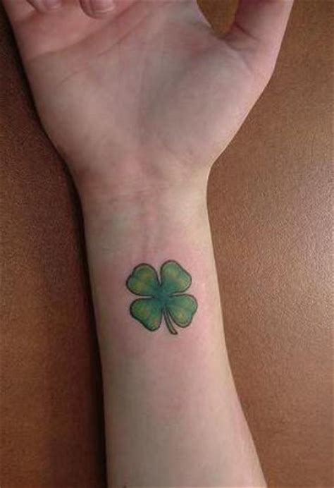 four leaf clover tattoo clover on wrist
