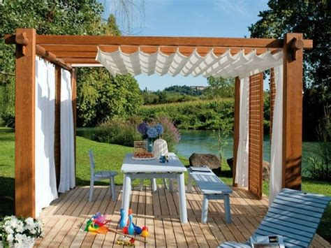 pergola curtain ideas curtains for pergola enhanced homes outdoor pergola