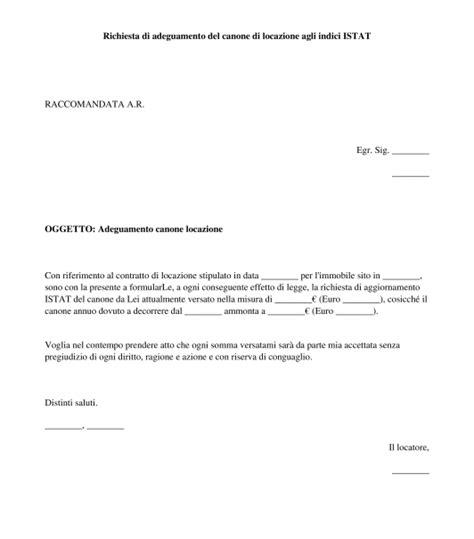 lettere richiamo dipendenti lettera adeguamento canone locazione modello