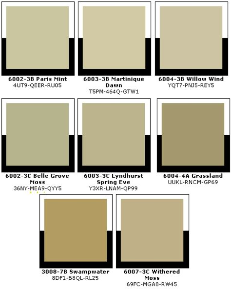lowes vintage paint colours