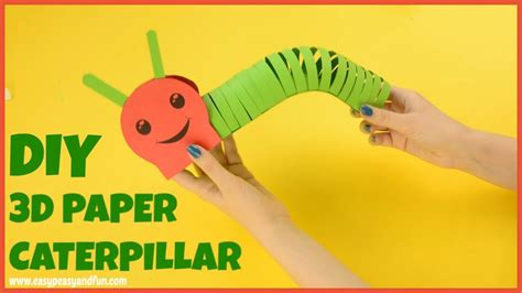 How To Make A Paper Worm - how to make a paper caterpillar craft for
