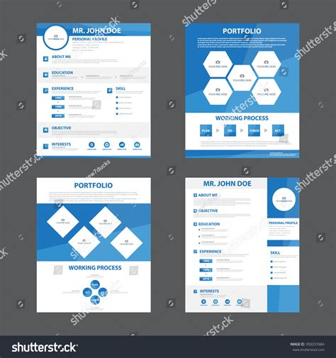 layout design application clean professional resume layout template royalty free