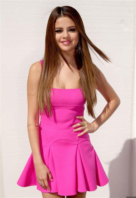 selena pink selena gomez stunning in pink mini dress at the 2012