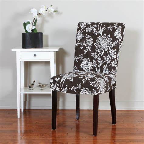 verona  piece floral relaxed fit dining chair slipcover