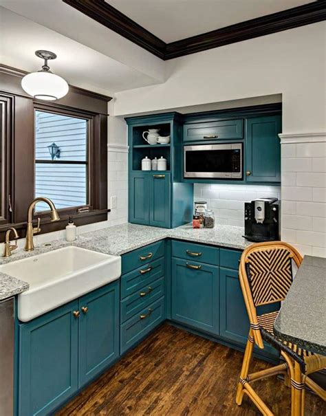 teal kitchen ideas add sophistication and drama to your home with teal color