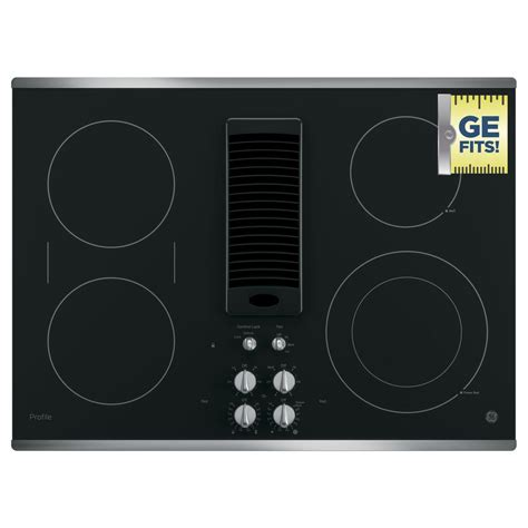 Storage Kitchen Ideas by Ge Profile 30 In Radiant Electric Downdraft Cooktop In