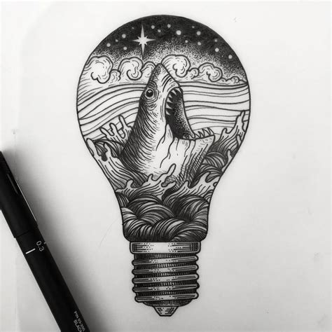 tattoo with pen and lighter tattoo on pinterest artistic tattoos light bulb drawing